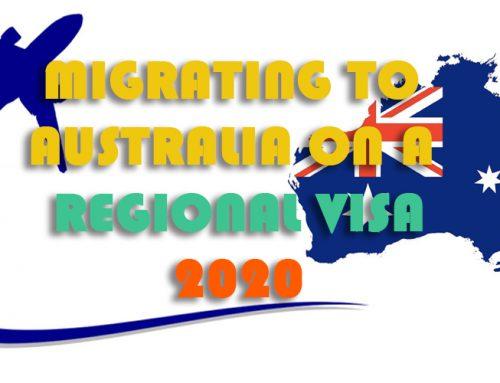 MIGRATING TO AUSTRALIA ON A REGIONAL VISA