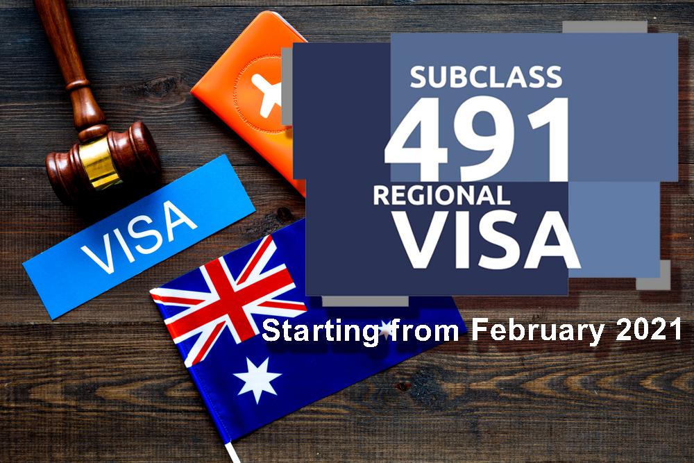 Subclass visa 491 2021