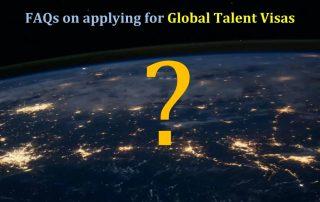 FAQs on applying for Global Talent Visas